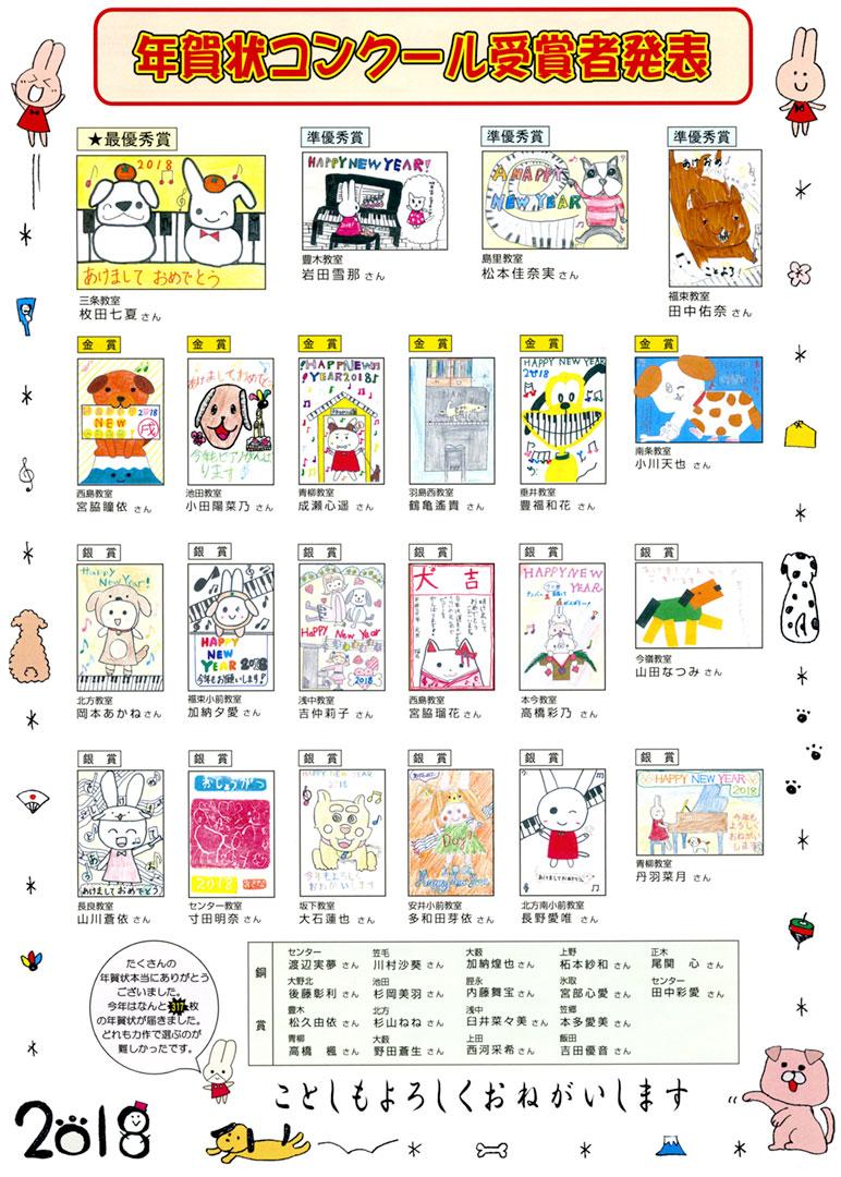 年賀状コンクール受賞者発表!